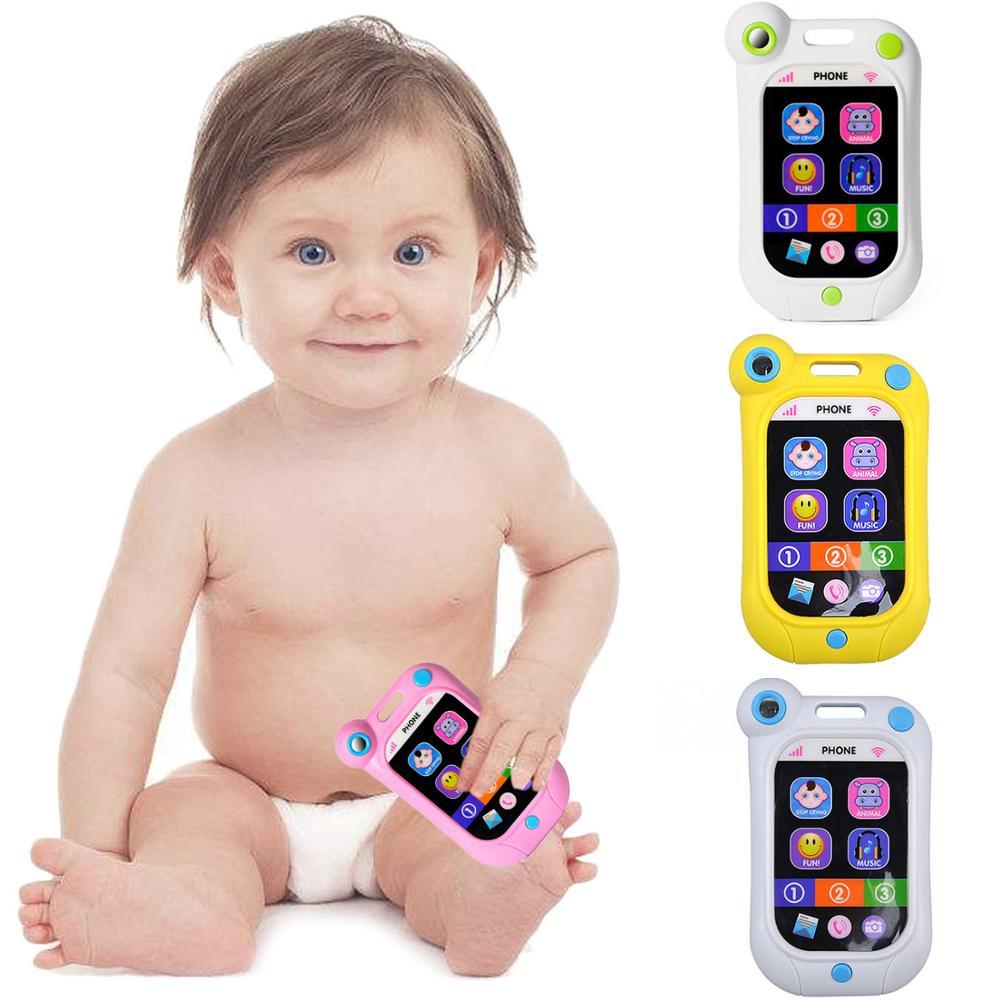 Детские музыкальные игрушки, звуки животных, умный мобильный телефон, ранние дети, развивающие игрушки, электрическая обучающая игрушка дл...