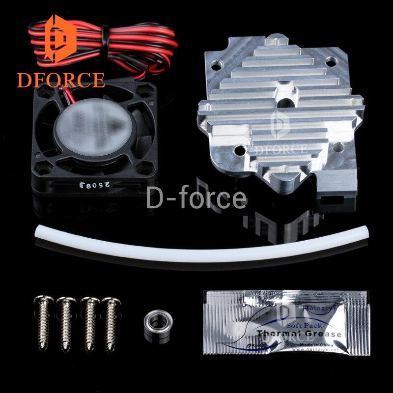 DFORCE titan экструдер aero 3DPrinter Запчасти радиатор алюминиевый блок 1,75 мм/3 мм Экструдер комплект обновления 12 в вентилятор и 24 В вентилятор