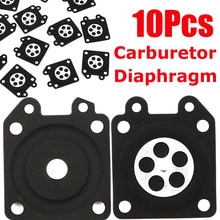 Juntas de diafragma dosificadoras de carburador de motosierra de goma 10x para Walbro 95-526-9-8