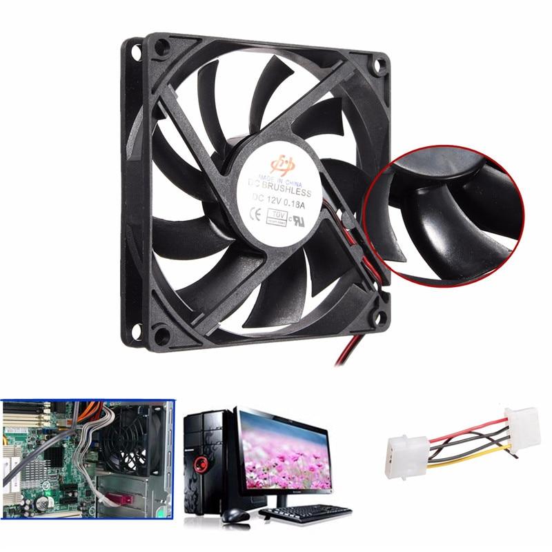 1PC 9 feuilles 4 broches 80mm 15mm refroidisseur ventilateur DC 12V refroidisseur boîtier ventilateur radiateur de refroidissement ordinateur PC CPU haute qualité
