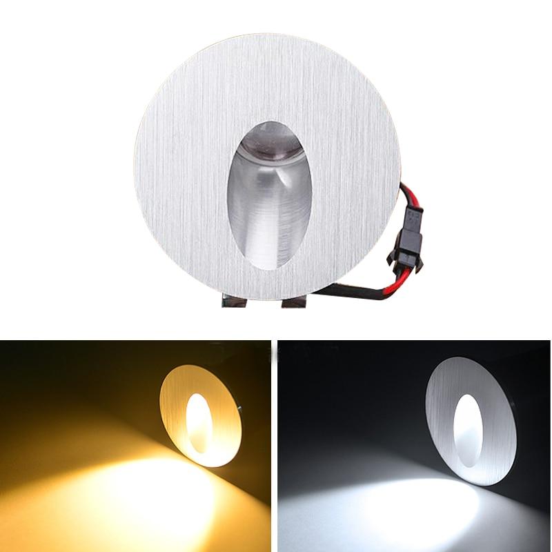 Candelabro led 85-265v 1w 3W luces de pared de luz led de empotrar para escaleras en El Paso/lámparas de pasillo iluminación empotrada de paredes de hormigón