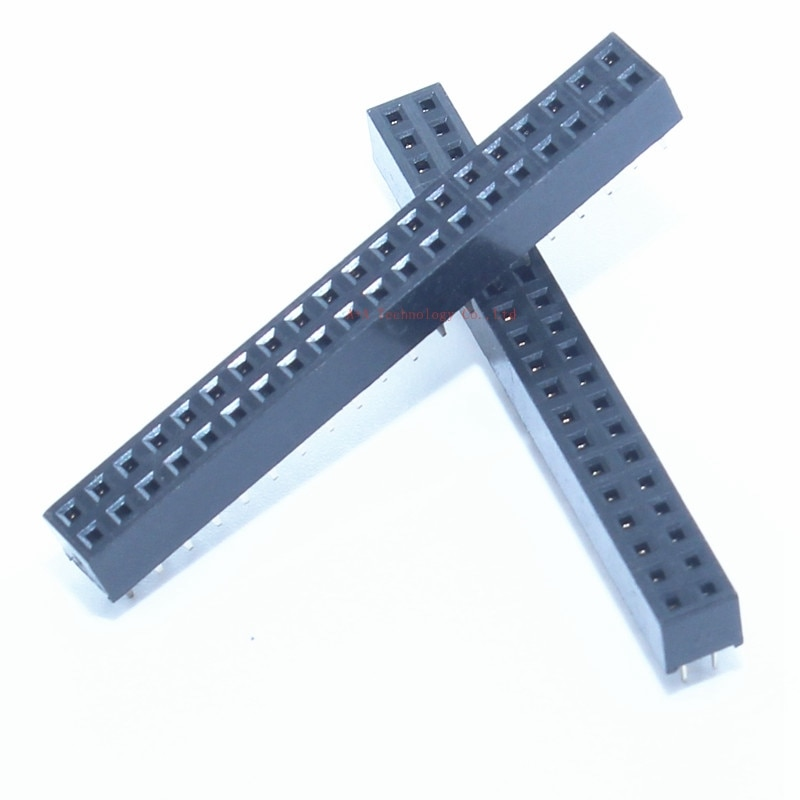 10 PCS 2x20 Pin 40 Pin header 2mm Dubbele Rij Rechte Vrouwelijke Header Pitch 2*20 2.0 MM