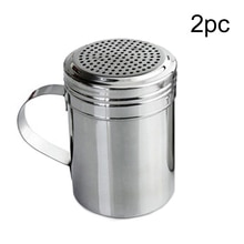 1/2pcs Shaker Stainless Steel Spice Bottles Barbecue Powder Dispenser Dredge Kitchen Tool Pepper Salt Sugar With Handle