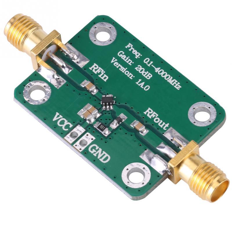 RF Verstärker Bord Mikrowelle RF Verstärker Frequenz Meter 0,1-4000 MHz Breitband Breitband Mikrowelle RF Verstärker Modul 20dB