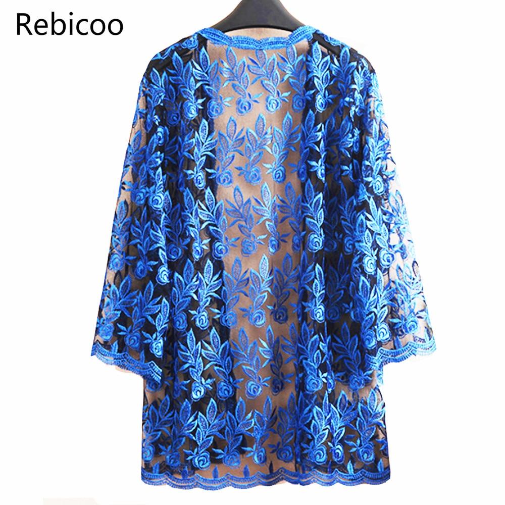 Été dentelle Cardigan broderie décontracté casual Vintage vestes Mujer manteau Jaqueta Feminino Casaco De La grande grande taille