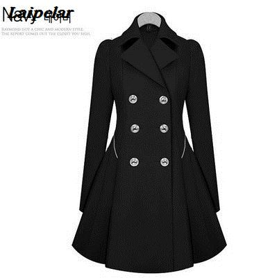 Autumn new windbreaker female long section Korean version of the self-cultivation jacket single-breasted fashion large size wome