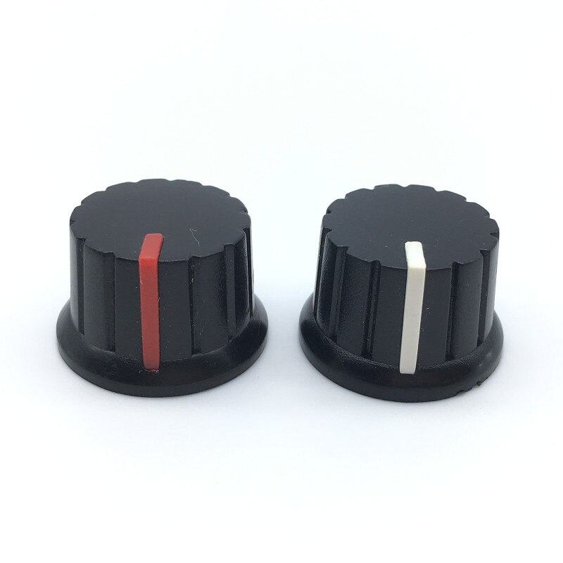 "5pcs/lot 6mm 15/64"" Shaft Diameter Potentiometer Knobs Half Shaft Type Plum Shaft"