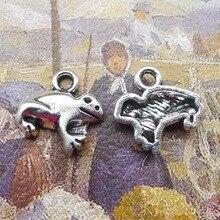 100 шт изысканные подвески лягушки Подвески 13*13 мм античный серебряный сплав ручной работы серьги браслет ожерелье ювелирные изделия DIY компоненты