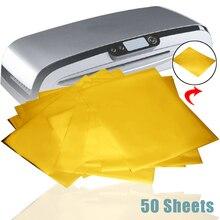 Feuille de papier à transfert thermique or   50 feuilles de papiers pour imprimante Laser, pour bricolage, Invitations, cartes de travail, calendriers 12