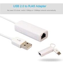 Koqit USB Ethernet Internet RJ45 Lan 10/100 Mbps adaptateur de câble réseau 88772A puce pour récepteur satellite récepteur TV K1 U2