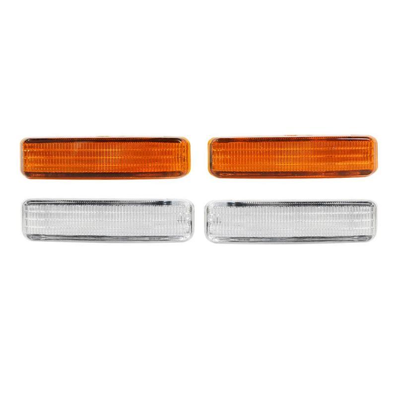 1 par guardabarros lado marcador luz de señal de giro para BMW serie 5 E39 E60 E61 bombillas LED de señal de vuelta luces