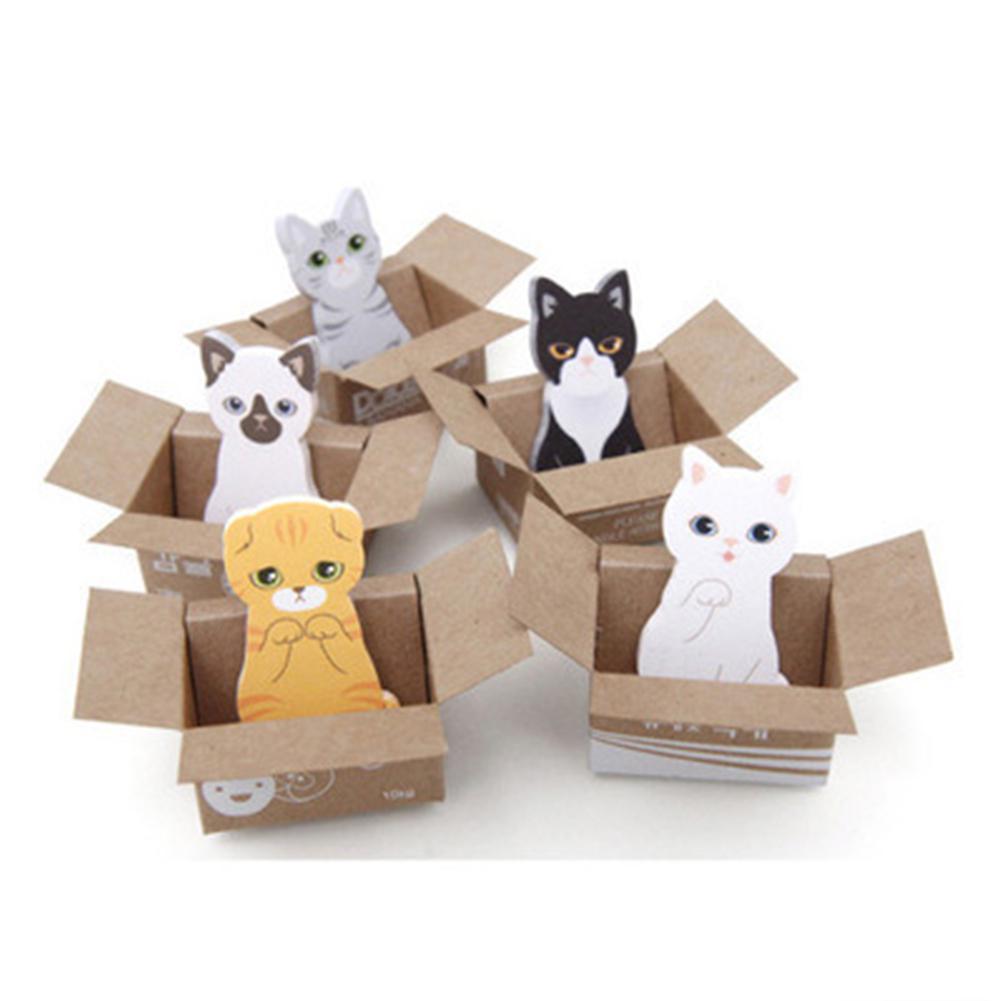 Kawaii dos desenhos animados coreano papelaria pegajoso notas material da escola de escritório almofada memorando sucata 3d kawaii gato caixa cão adesivos r25