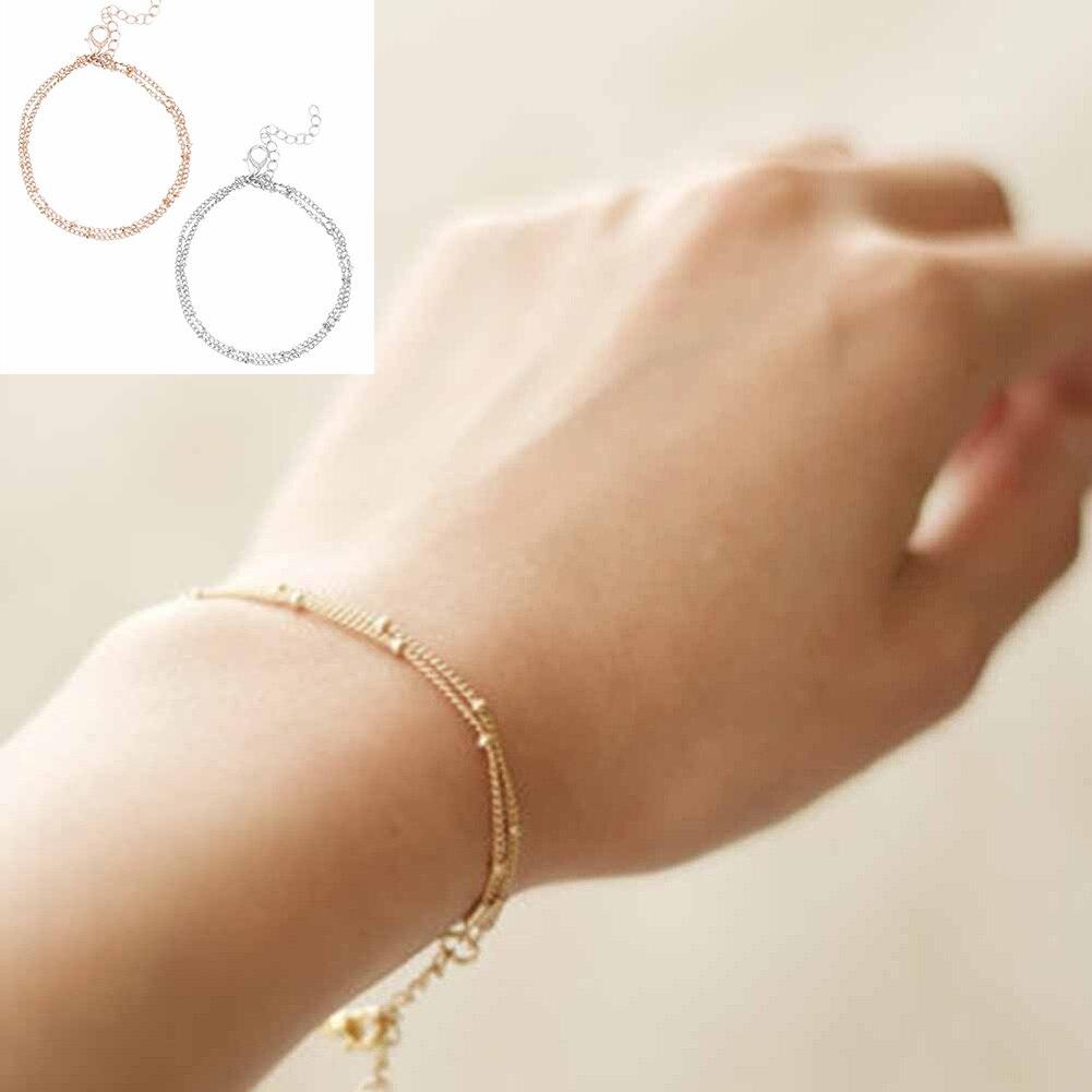 Pulseras y brazaletes modernos, cadena de serpiente de color dorado de gran oferta para mujer
