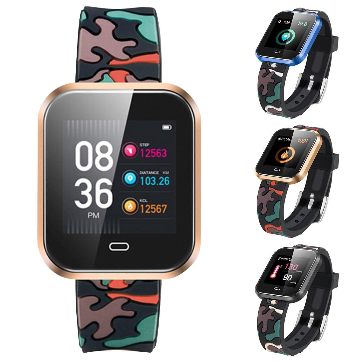 SOONHUA CD16 inteligente impermeable deportes Fitness pulsera presión arterial Monitor de ritmo cardíaco podómetro pantalla táctil de color de 1,3 pulgadas