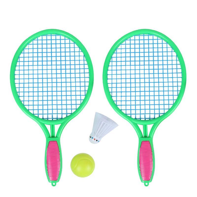 Nuevos niños doble raqueta de tenis Set bádminton al aire libre playa deportes juguetes pequeños juguetes educativos bebé deportes niños regalo