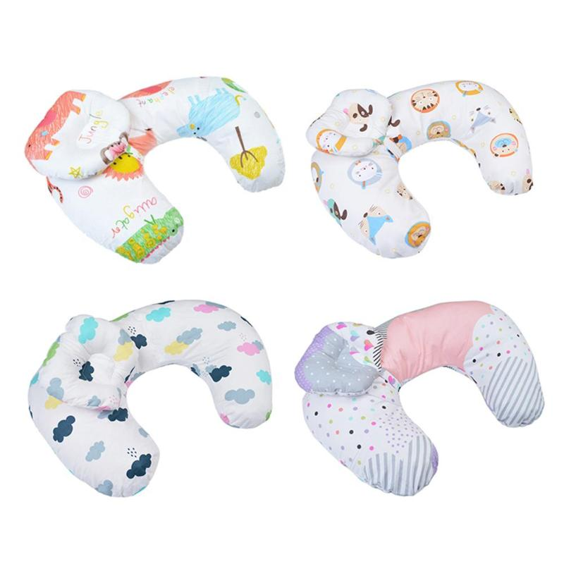 2 unids/set de almohadón de algodón para lactancia de recién nacidos, almohadas de lactancia para bebés, cojines para lactancia materna para bebés, cojines para lactancia