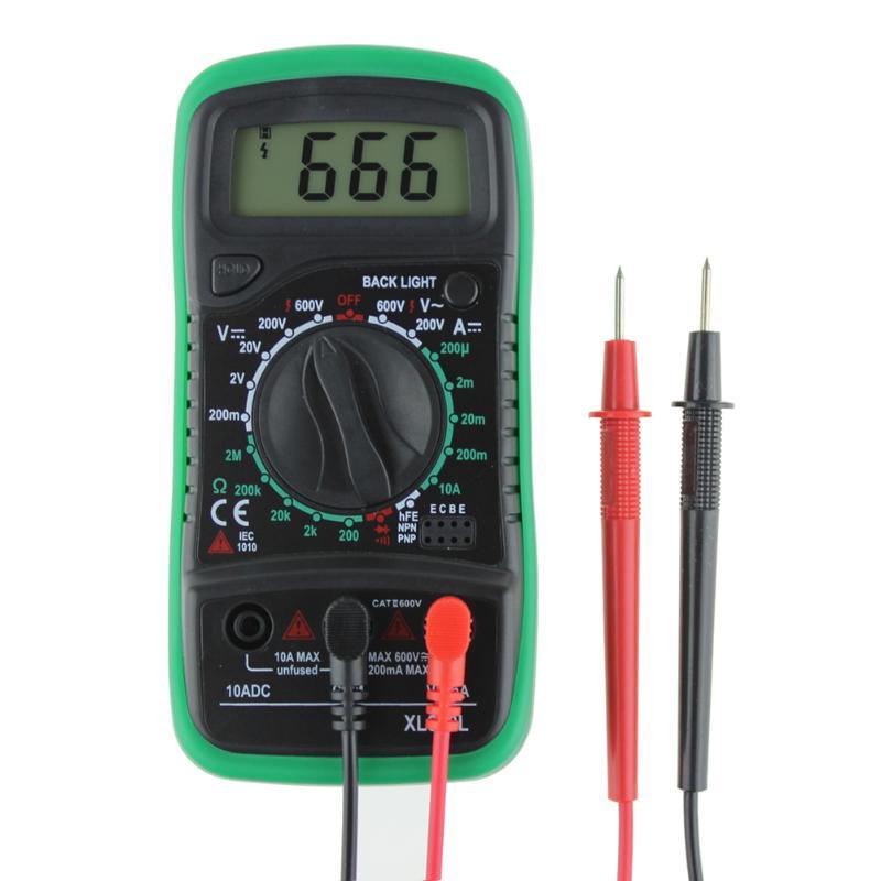 Multímetro Digital profesional XL830L, voltímetro, amperímetro CA, CC, ohmios, voltímetro de prueba LCD, multímetro de corriente con protección contra sobrecarga