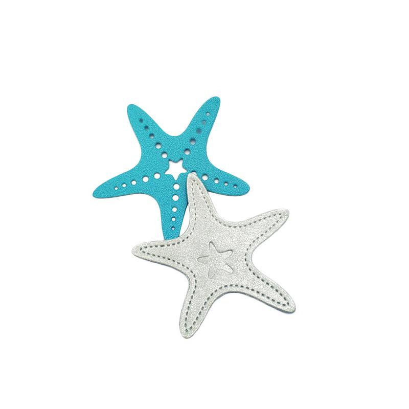 Molde de acero al carbono con diseño de estrella de mar, molde para álbum de recortes, molde para Cuchillo de corte DIY, Puzzle, artesanías de Metal, troquel de corte de acero