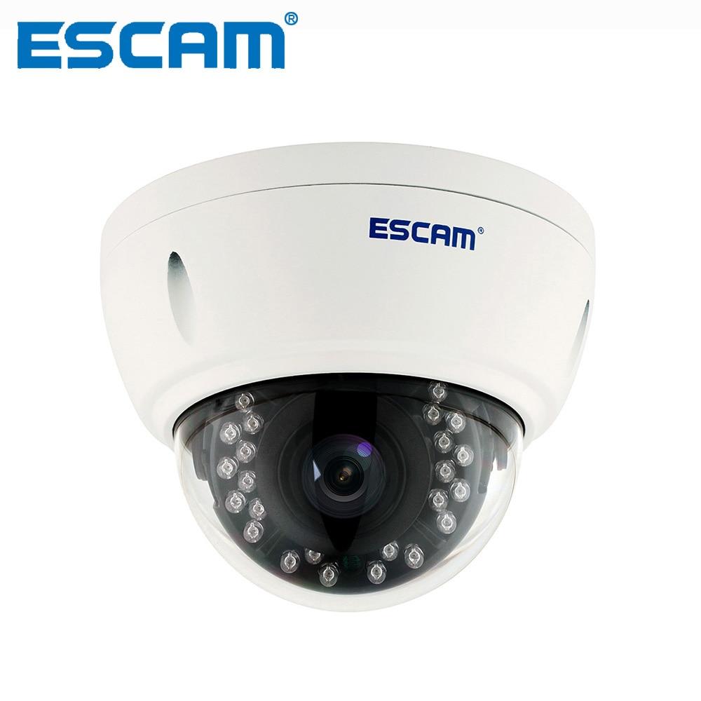 Review Escam QD420 Dome IP Camera H.265 4MP 1520P Onvif P2P IR Outdoor Surveillance Night Vision Security CCTV Camera Android iPhone