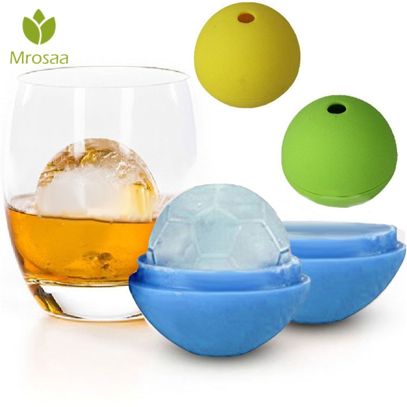 Mrosaa, utensilio para hacer cubitos de hielo redondos, molde de ladrillo, reutilizable, para Bar o fiesta