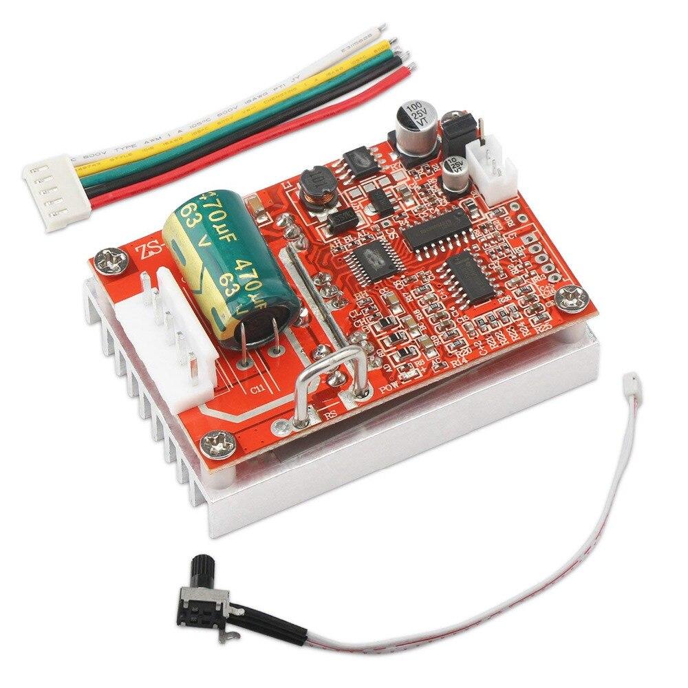 Sin escobillas Motor sensored Placa de Control de Motor regulador DC 5 ~ 36V 16A 350W controlador de Motor BLDC/interruptor 12v 24v