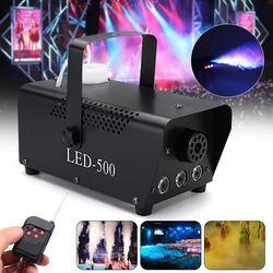 500W RGB LED Nebel Maschine Fernbedienung Beleuchtung DJ Party Rauch Werfer