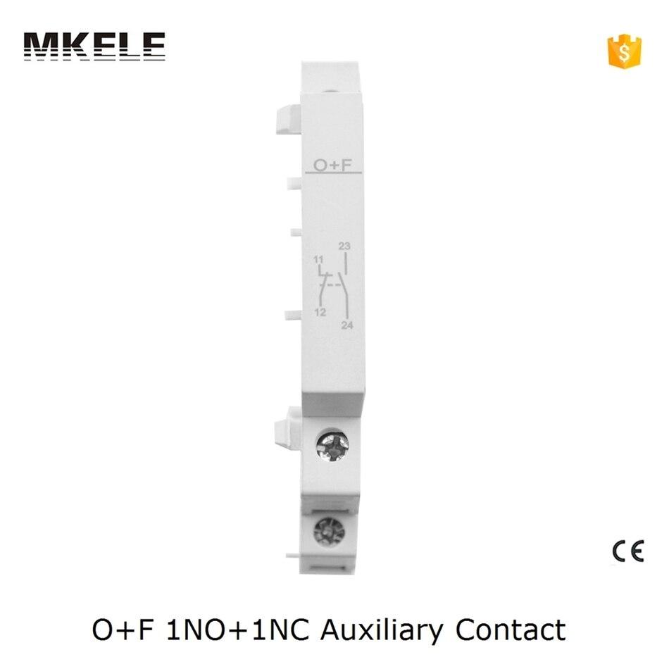 O + F Ct Contactor 1no + 1nc Ac Contactor Silver contacto eléctrico para Contactor doméstico Contactor auxiliar