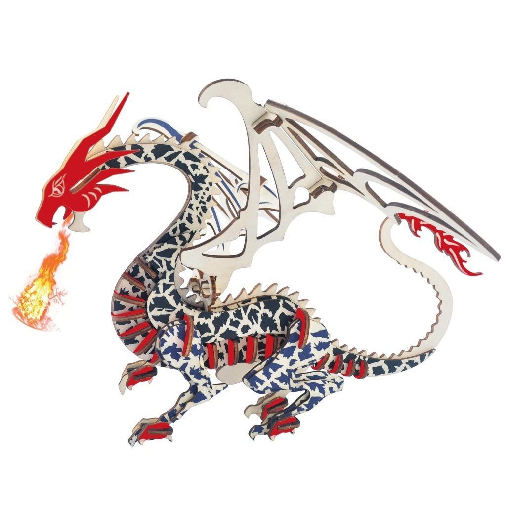 Xin Lian Dragon 3d деревянные трехмерные игрушки