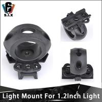 Weapon 1.2 Inch Light Mount Tactical Flashlight Helmet Mount 20mm Picatinny Rail