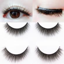 YOKPN New 3D False Eyelashes Natural Short Cross Fake Eyelashes Quality 0.07 Soft Material Handmade Daily Nude Makeup lashes