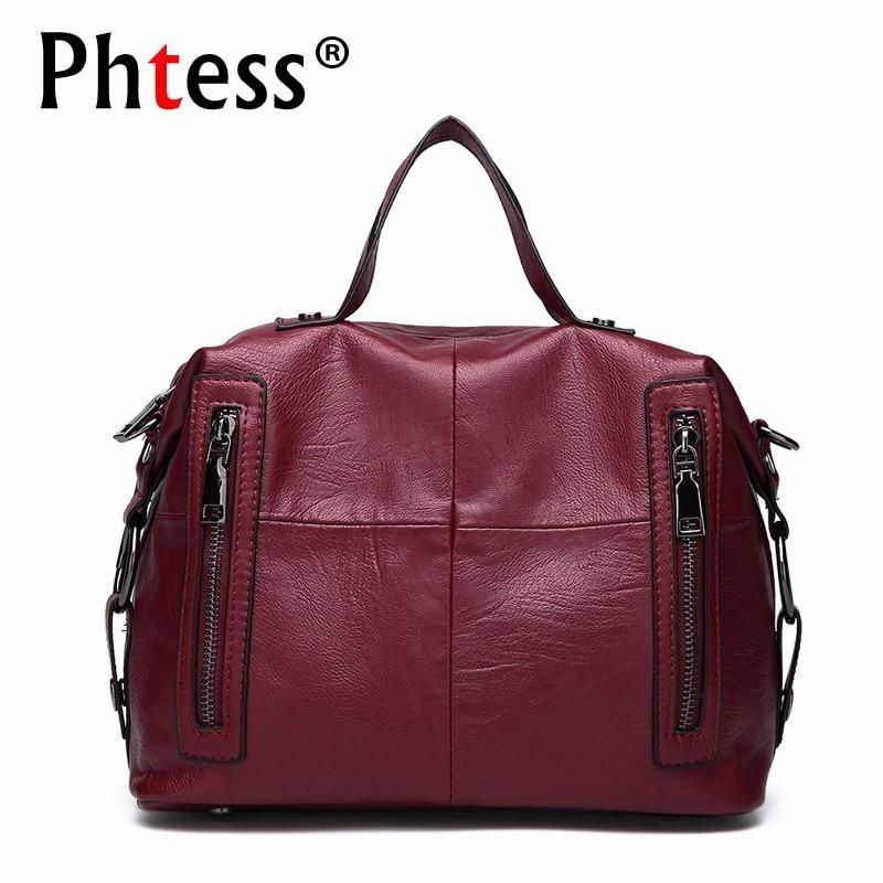 2019 Handbags Women Famous Brands Ladies Hand Bag Female Shoulder Bag Vintage Solid Ladies Crossbody Bags For Women Sac A Main