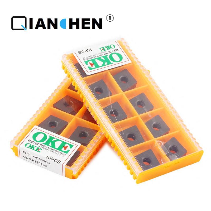 Calidad Original OKE 10 unids/lote alta precisión alto rendimiento alta resistencia CNC ococ3115d industria insertos de carburo