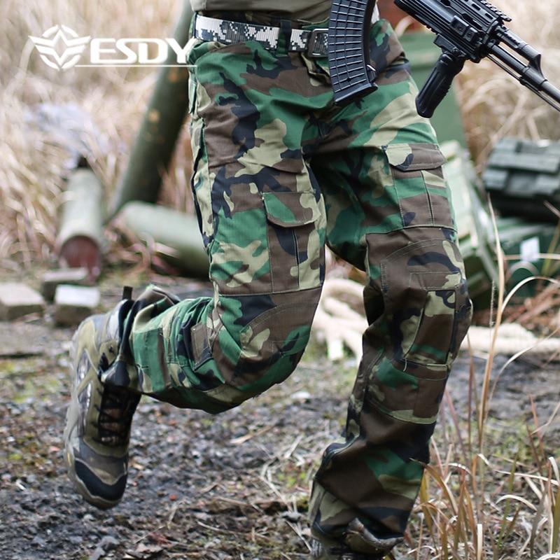 Мужские уличные тактические камуфляжные штаны в стиле милитари, мужские походные брюки-карго, повседневные армейские хлопковые брюки