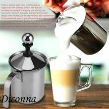 Machine à mousse manuelle 400/800ML   Mousseur à lait, tête de fouet à café, Double maille, nouveau