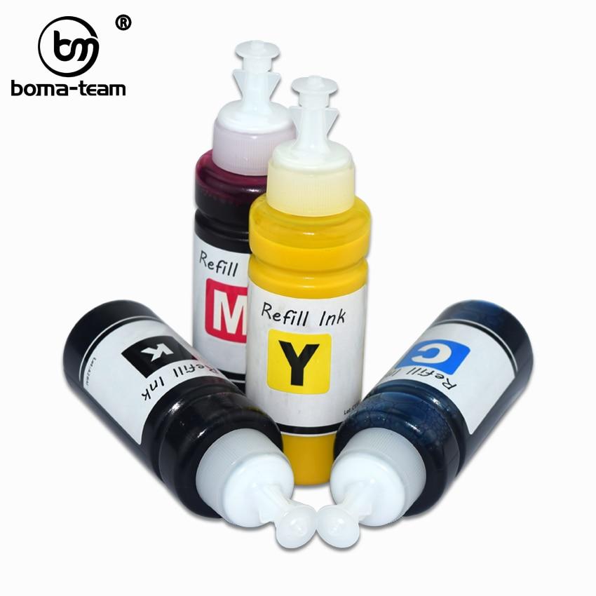 Cores À Prova D Água Recarregável Massa 4 tintas Pigmentadas Para Epson Colorwork TM-C3500 C3500 C3400 C3510 C3520 C7500G Cor Impressora de Etiquetas
