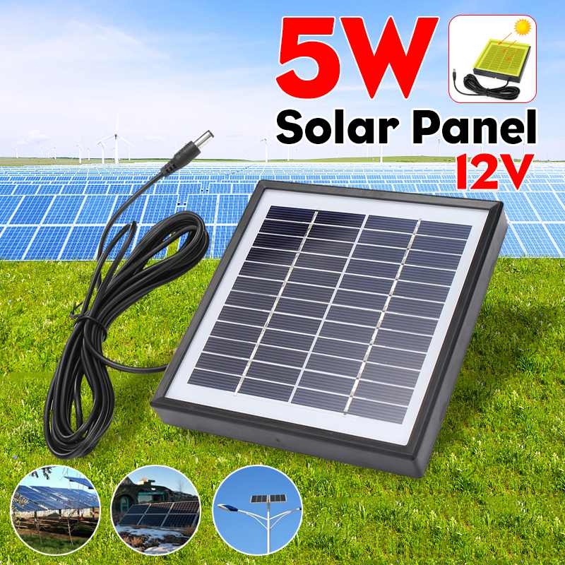 5W 12V Solar Panel Im Freien 3 Meter Kabel Tragbare Solar Ladegerät Scheibe Klettern Schnelle Ladegerät Polysilizium Tablet Solar generator