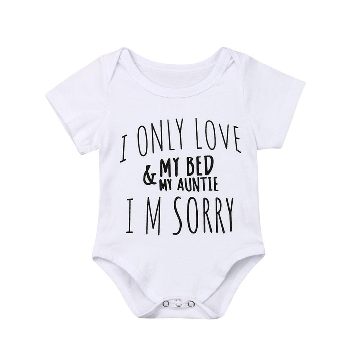0-18M Kid Roupas Bebê Recém-nascido Menino Menina AMO MINHA TIA Sunsuit Bodysuit Manga Curta Jumper Outfits