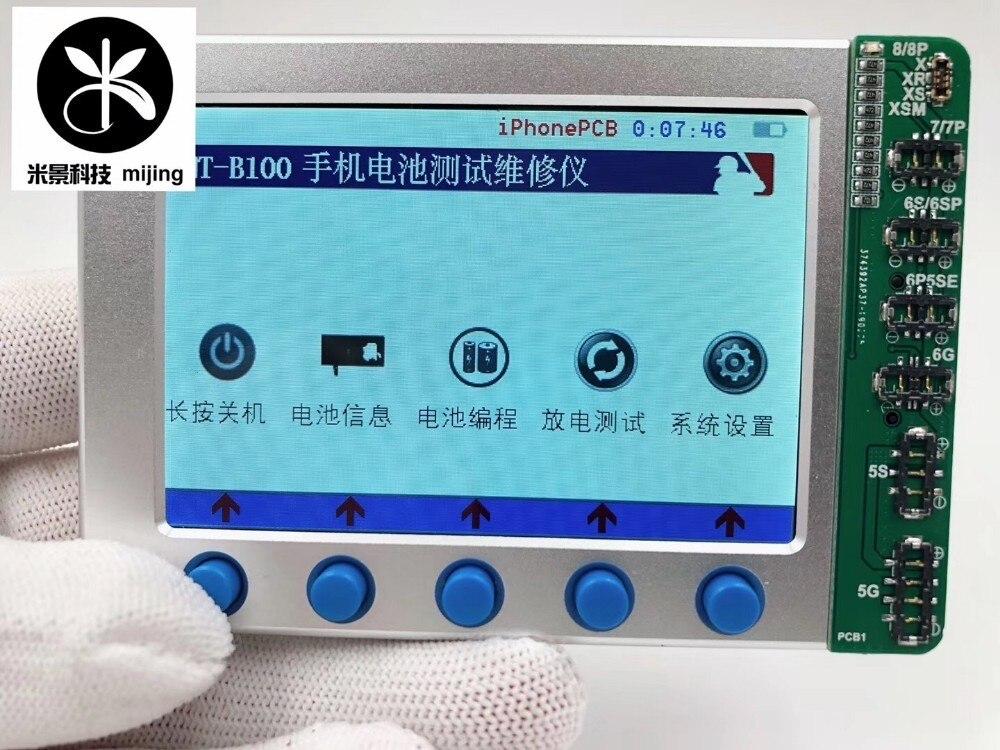MJ MT-B100 iPhone PCB probador de batería Cable de datos herramienta de prueba de información para Iphone 8 X Xs 7 6p 6s series