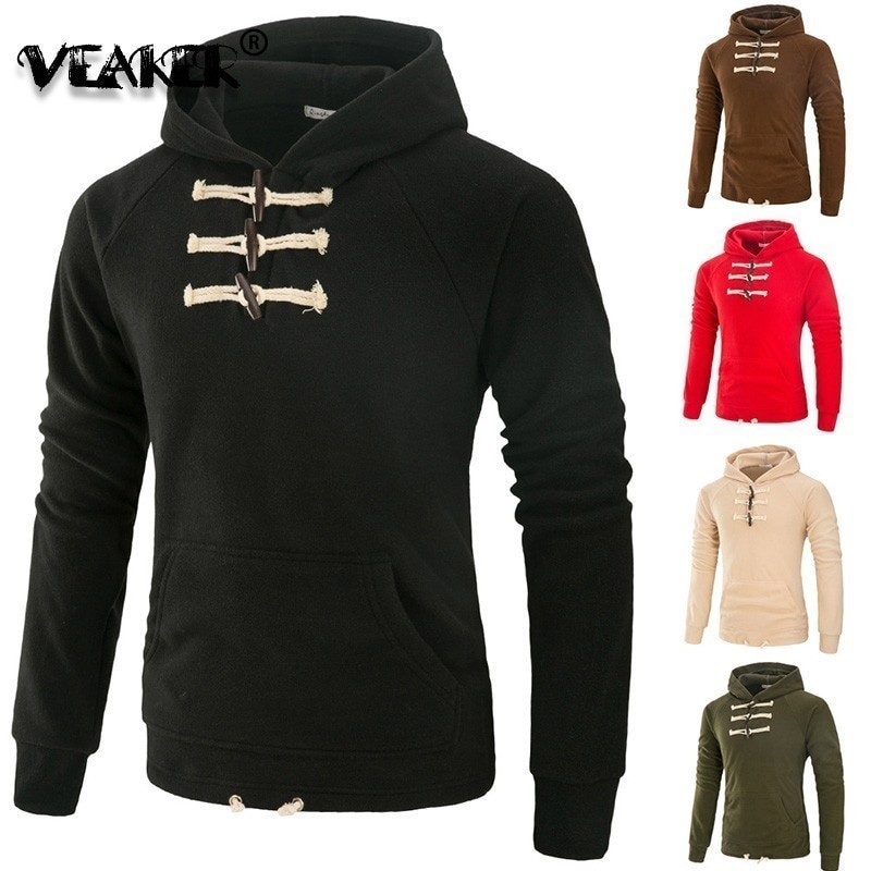 Sudadera con capucha de lana para hombre 2019, ropa deportiva con retales, sudadera con capucha para hombre