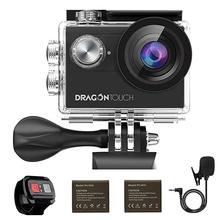 Caméra daction 4 K/30fps anti-secousse EIS 16MP caméra sous-marine WiFi caméra de sport prise en charge micro externe dragon touch Vision 4