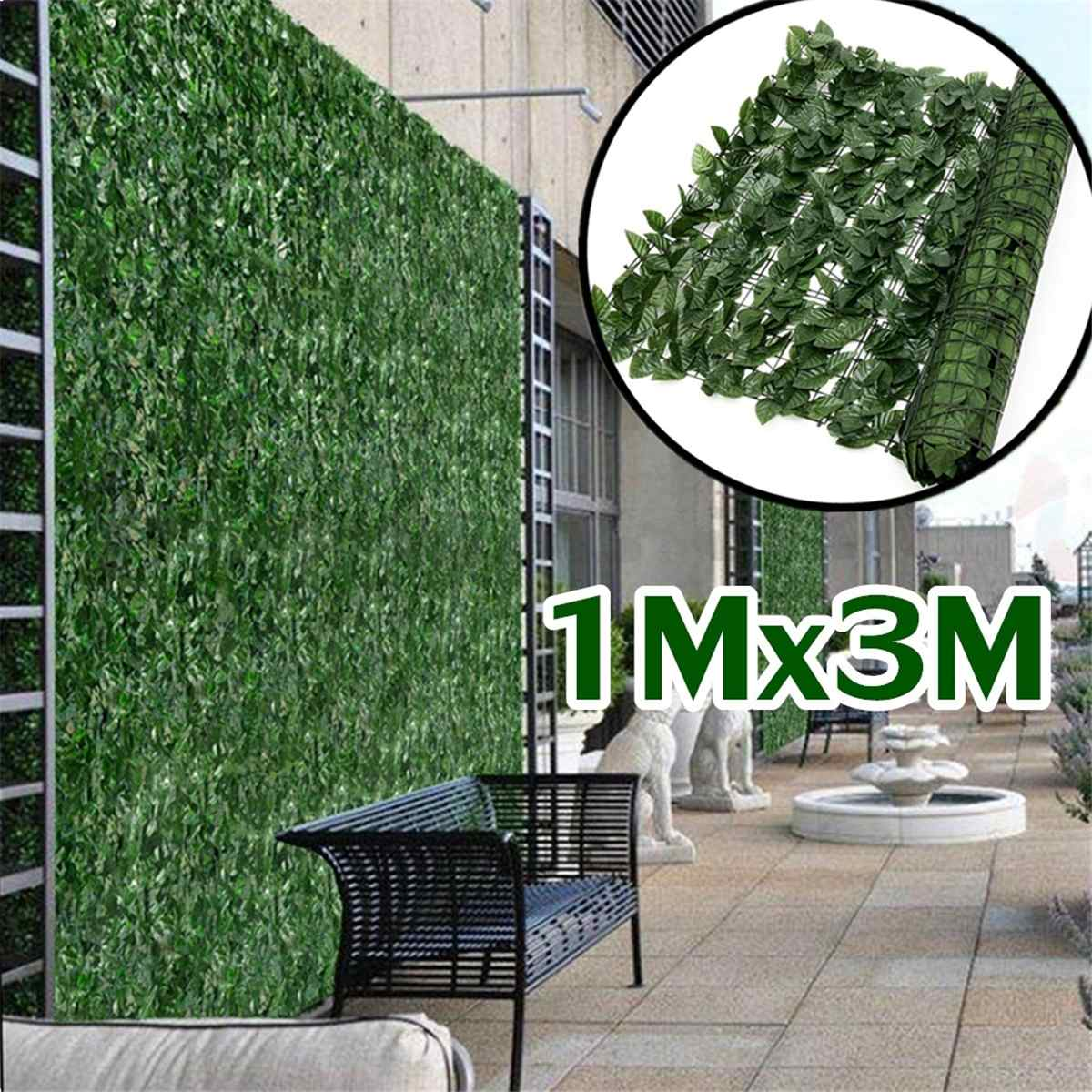 Artificial Plant Wall Lawn Boxwood Hedge Garden Backyard Home Decor Simulation Grass Turf Rug Lawn O
