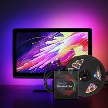 Ambilight-Kit bande LED USB lumière 5050 RGB couleur de rêve ws2812b bande pour TV ordinateur de bureau écran rétro-éclairage éclairage 1M 2M 3M 4M 5M