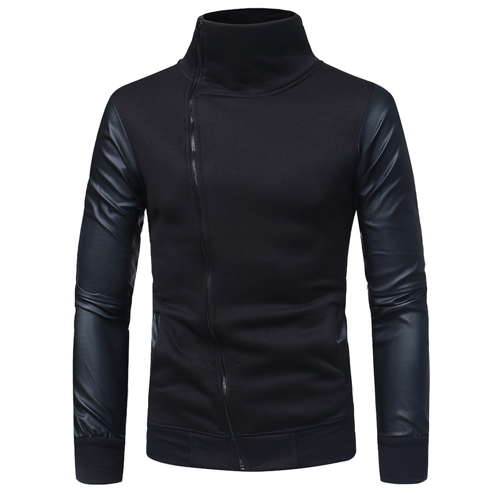 Rebicoo chaquetas hombres militar abrigo Streetwear Hip Hop sólido manga larga cremallera abrigo Sudadera con capucha chaqueta masculina