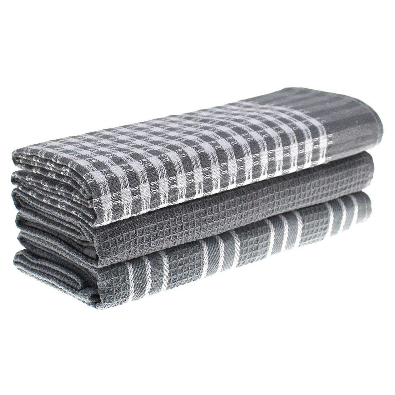 3 unids/set de toallas de cocina de 100% clásico de algodón Natural, paños de cocina, máquina absorbente de pelusa, vajilla para el hogar