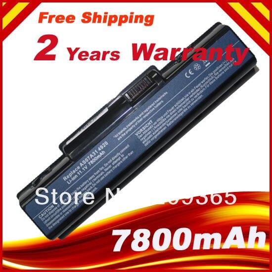7800mAh batería del ordenador portátil para ACER Aspire 5335, 5535, 5542, 5735,...