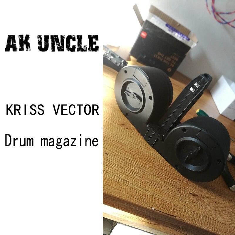 AK הדוד ג 'ל כדור אקדח לקריס וקטור V2 תוף מגזין ג' ל כדור צעצוע אקדח אבזר