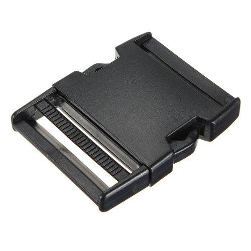 Atacado 5 pces * 50 mm fivela clipe plug fecho fivela cinta preta
