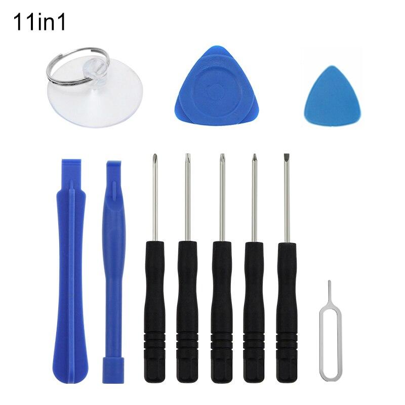Herramientas de apertura de teléfono móvil UANME 11 Uds para iPhone 4 4S 5 5S 6 6S juego de destornilladores/Spudger de plástico/selección abierta/Kit de ventosa