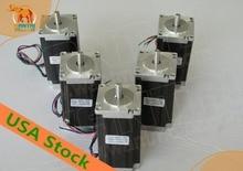 [USA FREE] CNC Wantai 5PCS 4-lead Nema23 Stepper Motor 57BYGH115-003 425oz-in 115mm 3A CE ROHS ISO Engraver Foam Plastic