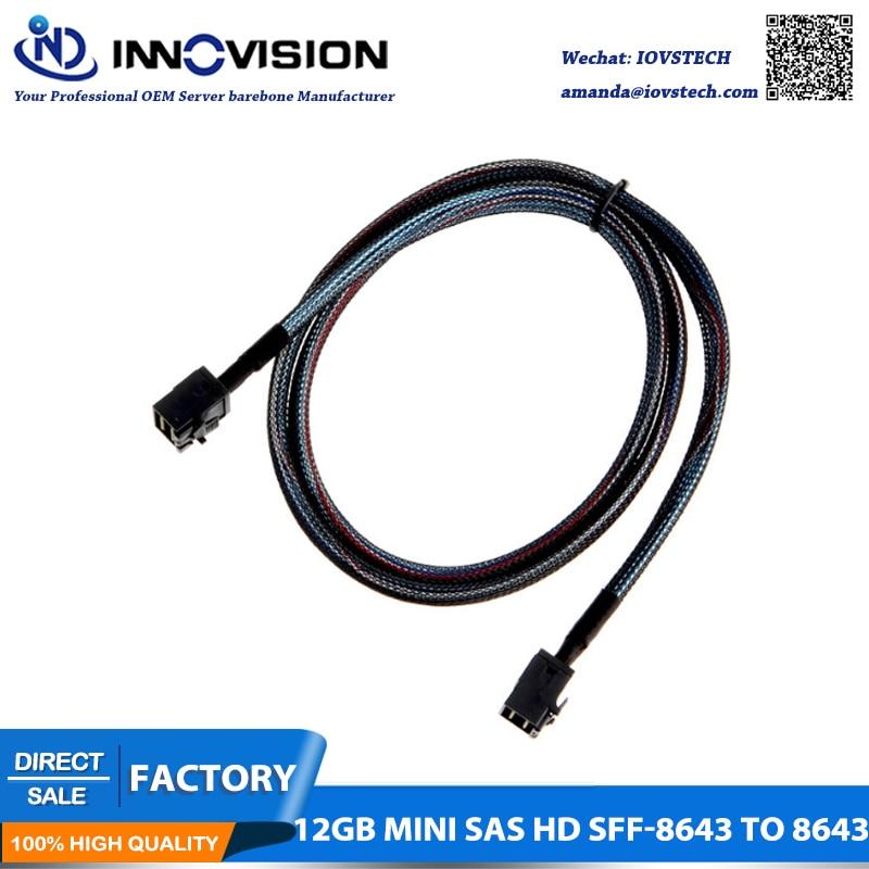 Mini SAS HD Servidor de alta velocidad de línea de datos Mini SFF-8643 a SFF-8643 cable HD
